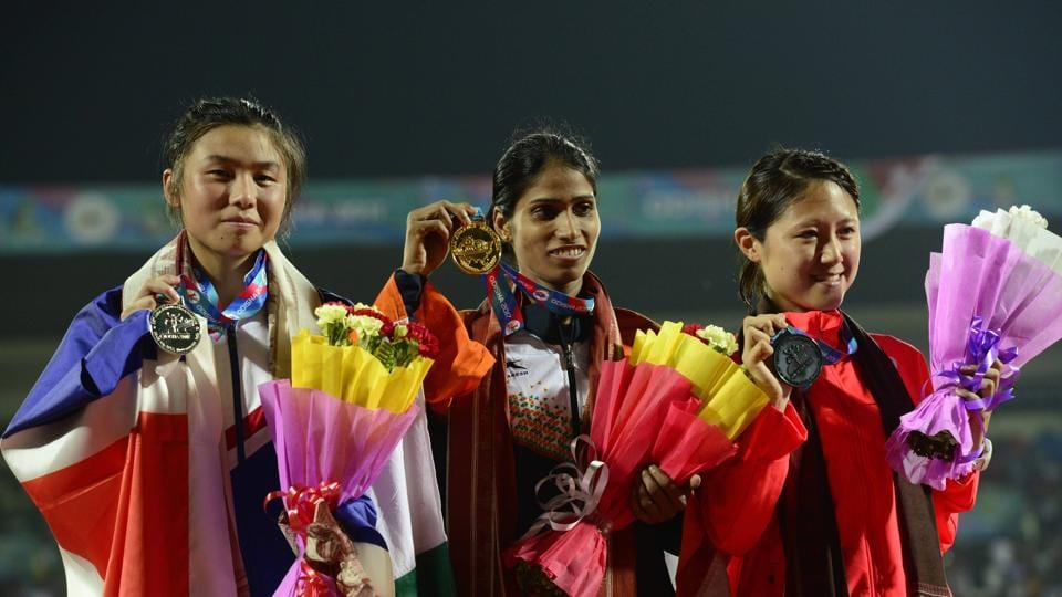 Sudha Singh won the gold medal in the 3000m steeplechase and secured qualification to the world championships in London.