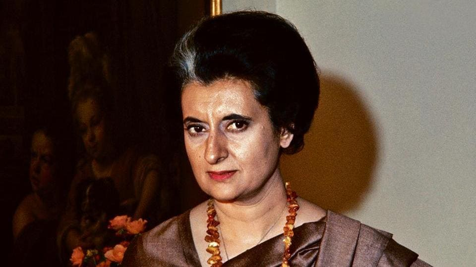 Indira Gandhi during a visit to the US.
