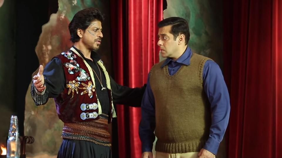 Shah Rukh and Salman were seen together on screen after a long time.