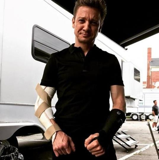 Renner says it's the part of his job.