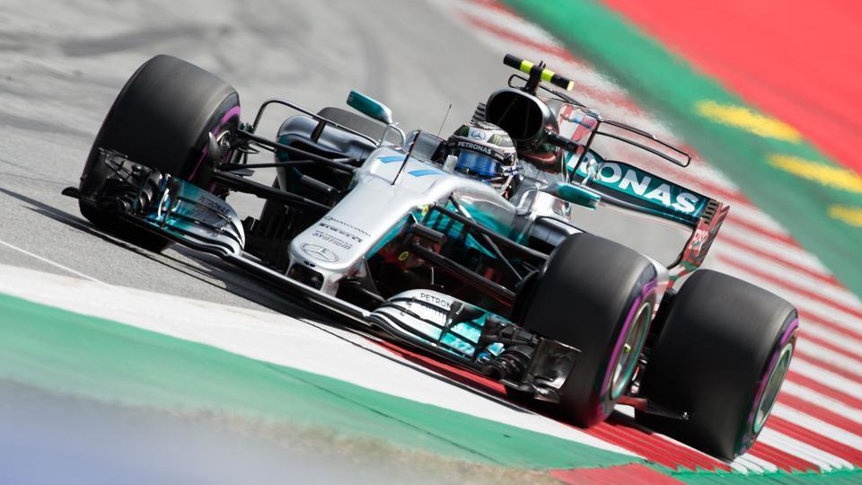 Mercedes' Valtteri Bottas will start the Austrian Grand Prix at pole position.