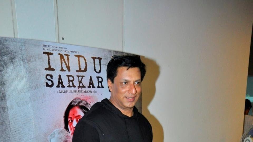Filmmaker Madhur Bhandarkar during the launch of a song from his upcoming film Indu Sarkar, in Mumbai.