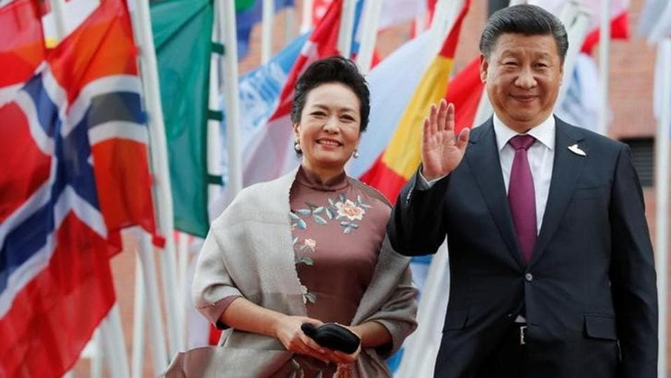 Chinese President Xi Jinping and his wife Peng Liyuan  seen at the  summit  (rEUTERS)