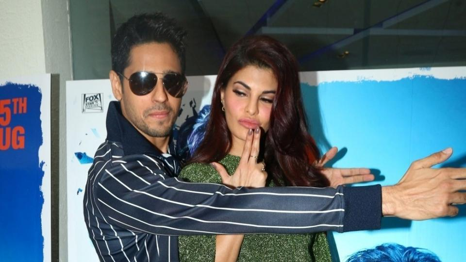 Sidharth Malhotra and Jacqueline Fernandez during special preview of A Gentleman in Mumbai, on July 7.