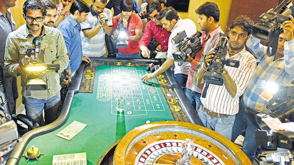 Earlier last year, an illegal casino was busted in Delhi's Neb Sarai.