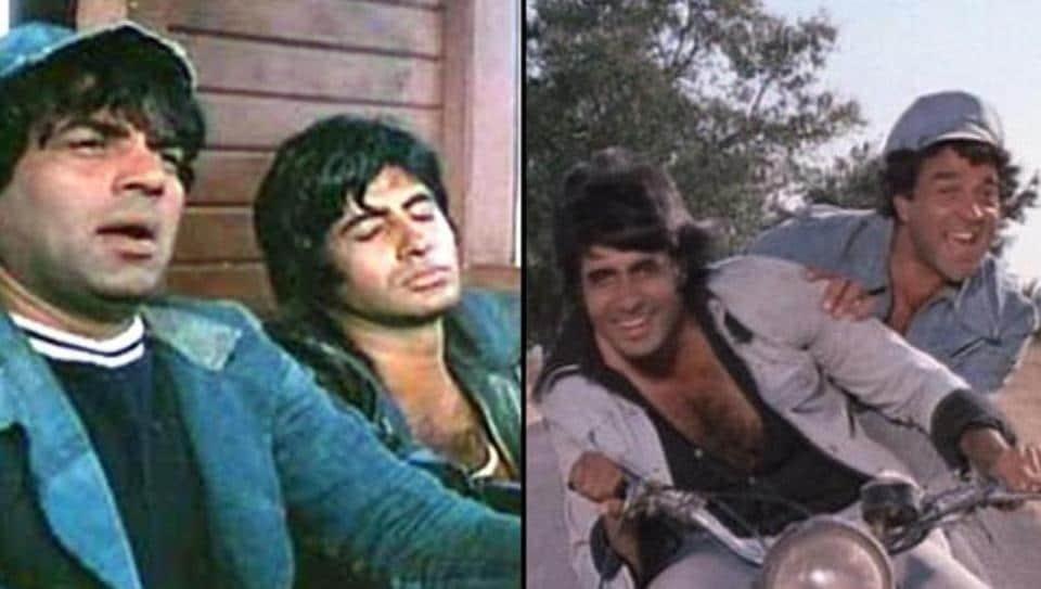 Amitabh Bachchan,Dharmendra,Sholay
