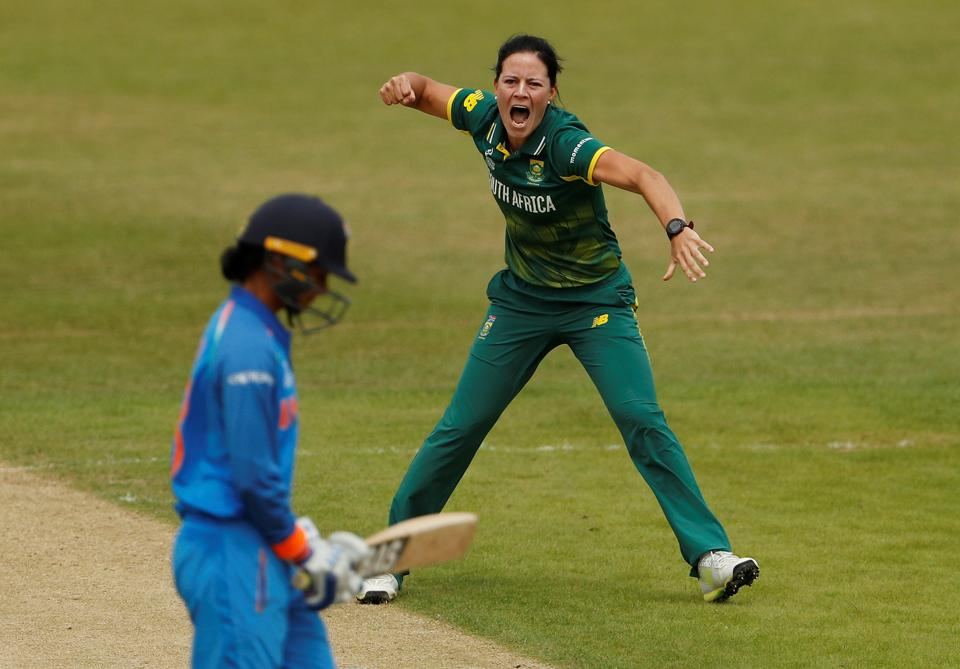 Chasing 274, South Africa's Marizanne Kapp got rid of Smriti Mandhana cheaply. (Action Images via Reuters)