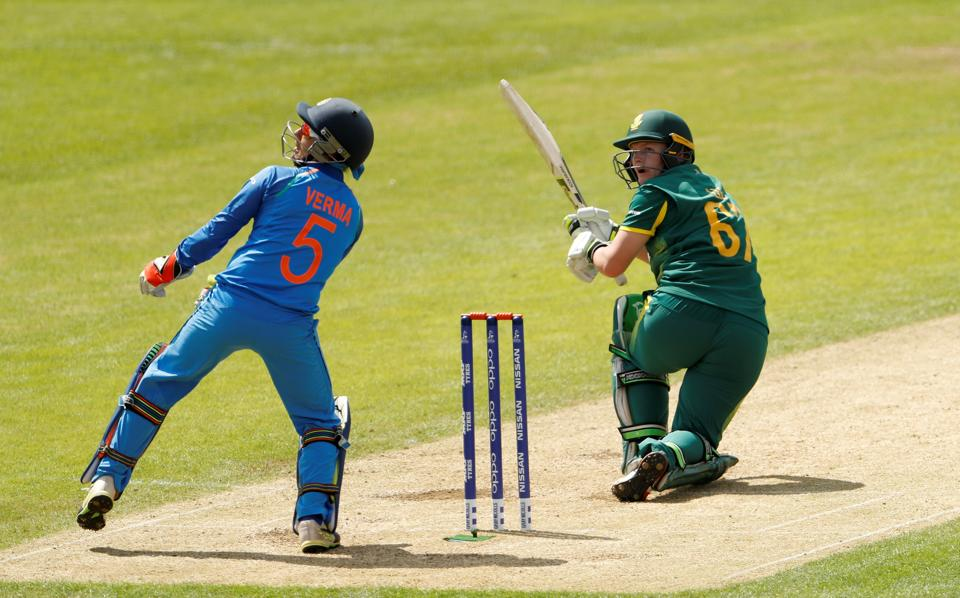 Lizelle Lee aggressively took the attack to the Indian bowlers as South Africa staged a revival. (Action Images via Reuters)