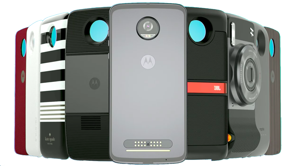 Snap on the Mods and convert the Z2 Play phone into a movie projector or a JBL stereo speaker