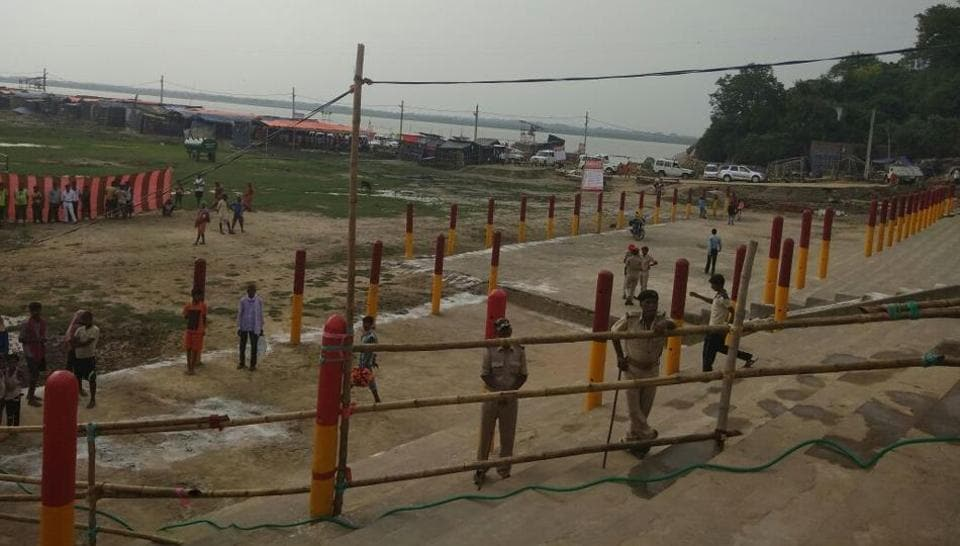 Preparations are complete for pilgrims of Shravani Mela at Sultanganj, where they will collect water from the Ganges and proceed to Deoghar.