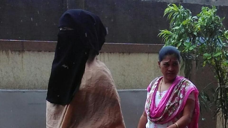 CCTVfootage shows a veiled woman who allegedly kidnapped the child.