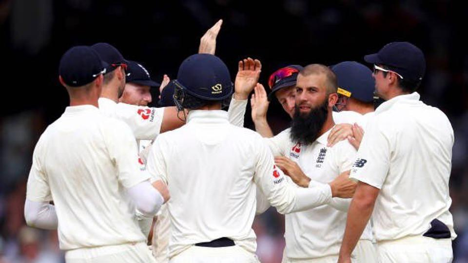 England rode on Moeen Ali's 10/112 to thrash South Africa by 211 runs in the first Test at Lord's.