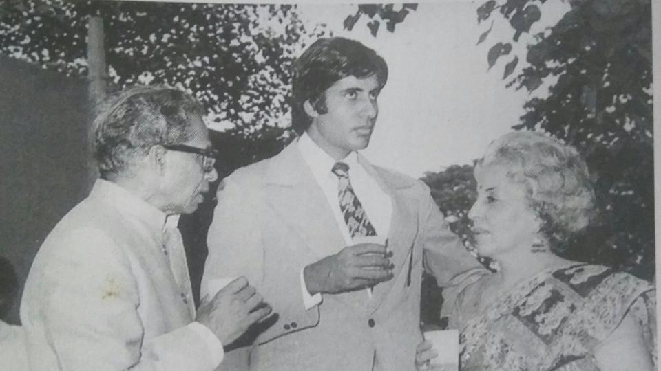 Amitabh Bachchan shared an old picture where he is seen along with his parents.