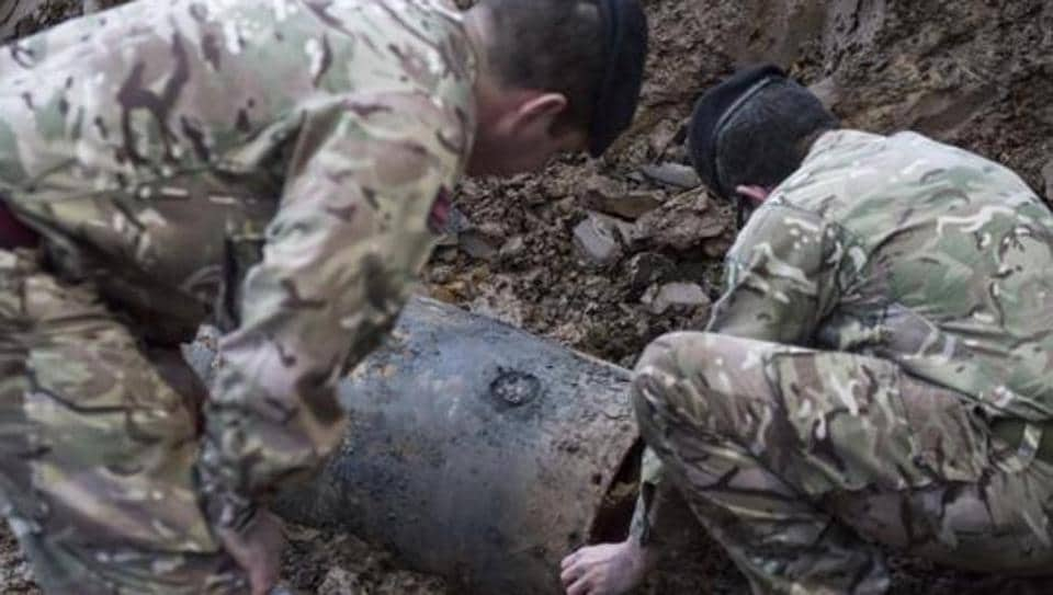 A Second World War bomb which was discovered on a building site in Brent, north-west London.