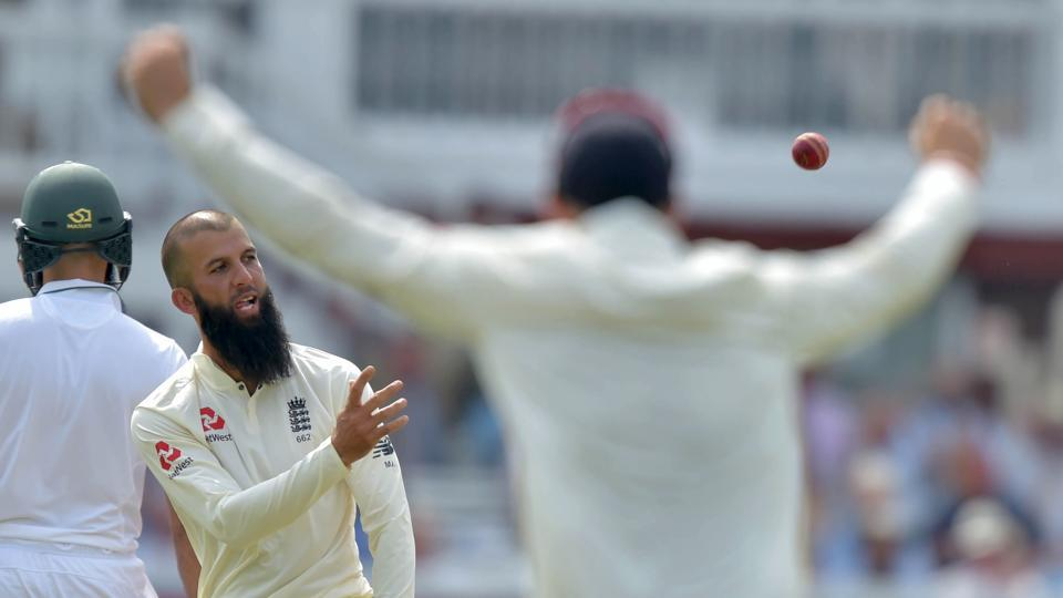 Moeen Ali took six wickets for 53 runs in the second innings as England beat South Africa in the first of four-Test series . Get full cricket score of England vs South Africa here.