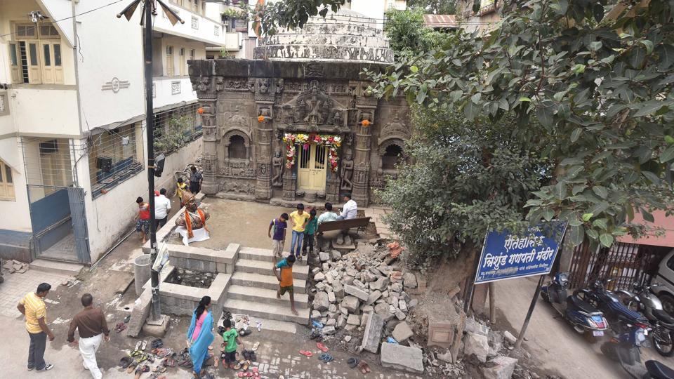 Trishundha Mayureshwar Ganapati temple,Lord Ganesh,Pune