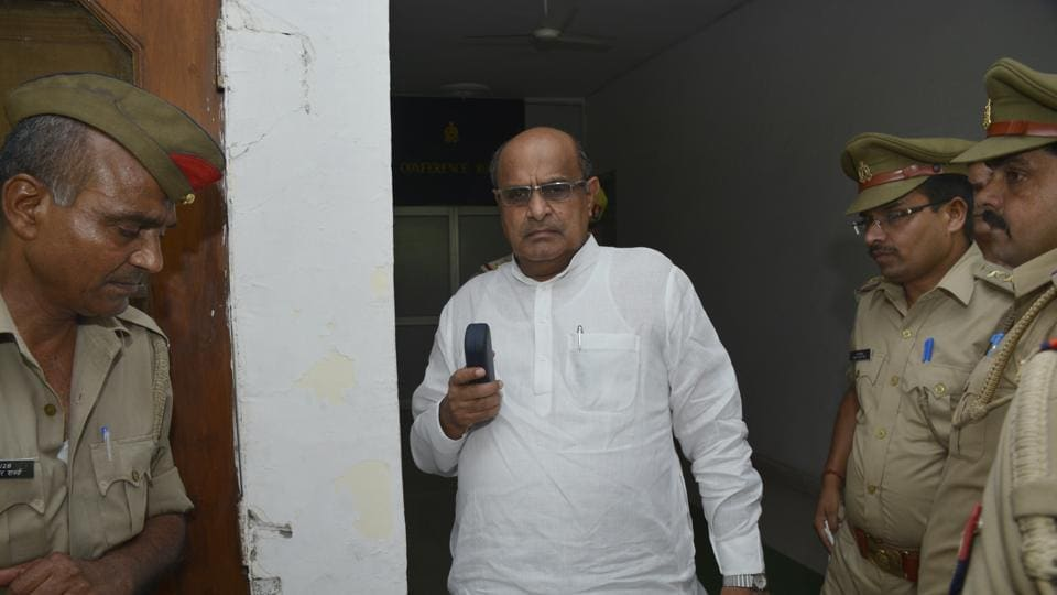 Rajya Sabha MP KC Tyagi and others were detained by Ghaziabad police while they proceeded to Mandola village, where the farmers have started an agitation demanding land compensation hike.