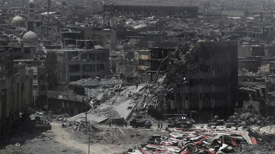 A  general view of the destruction in Mosul's Old City on July 9.
