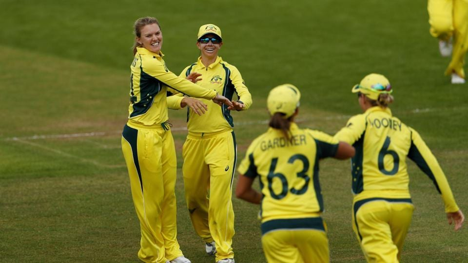 England beatAustralia by three runs to register their fourth win in the ICC Women's World Cup 2017. Get full cricket score of England vs Australia here