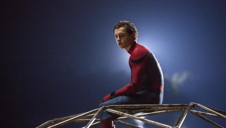 Tom Holland in a still from Spider-Man: Homecoming.