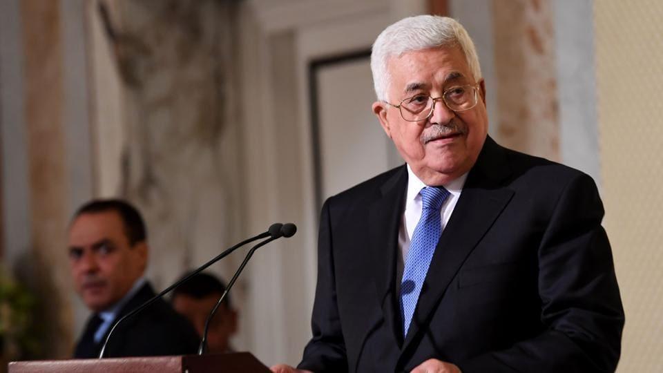 Palestinian president Mahmud Abbas