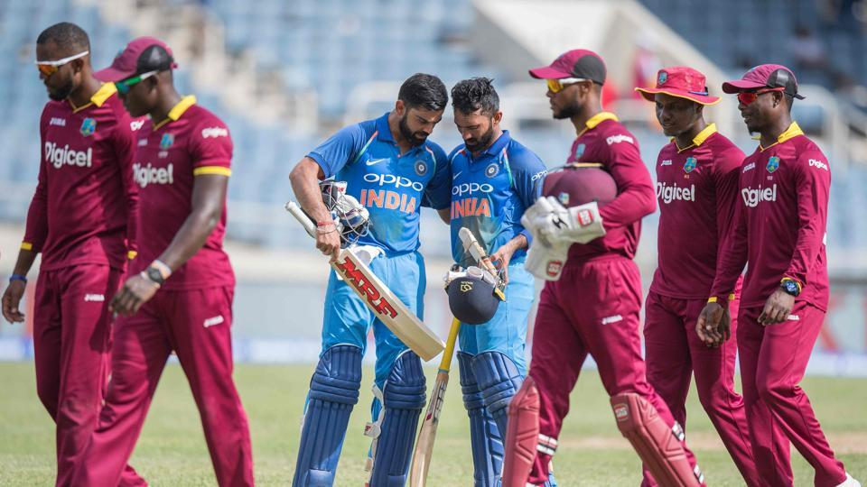 West Indies beat India by nine wickets in the one-off T20I at Kingston, Jamaica. Get full cricket score of India vs West Indies here