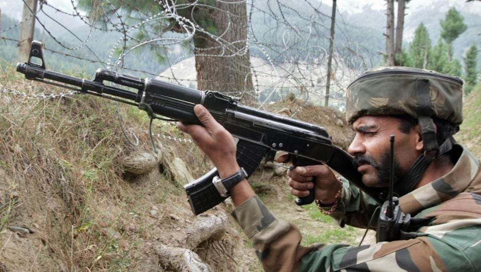 The Army on Monday foiled an infiltration bid along the Line of Control (LoC) in Naugam sector of north Kashmir, killing two militants.