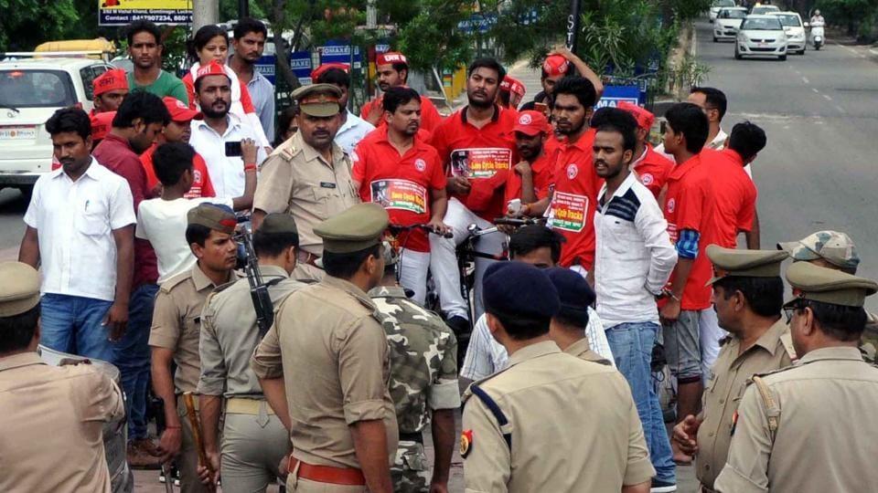 Demolition of cycle tracks,Law and order,Yogi Adityanath government