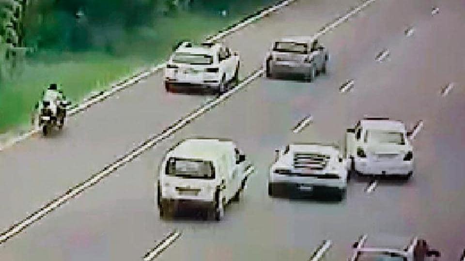 Lamborghini,Swift Dzire,Noida Expressway