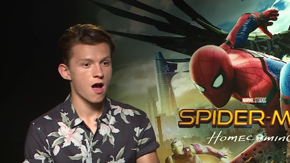 Tom Holland's reaction is an accurate representation of what he's seeing.