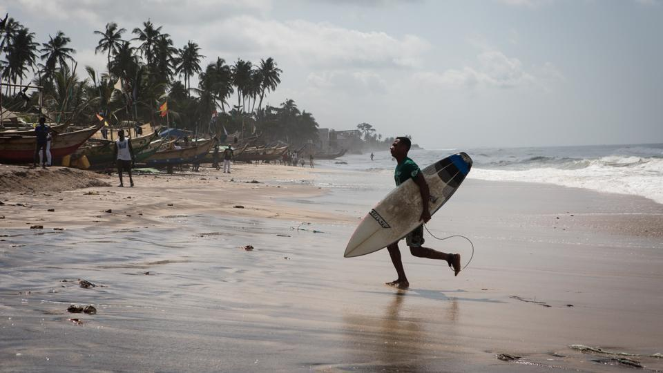 The advantage to surfing in Ghana is that the uncrowded  waves appeal to the beginner and intermediate markets.