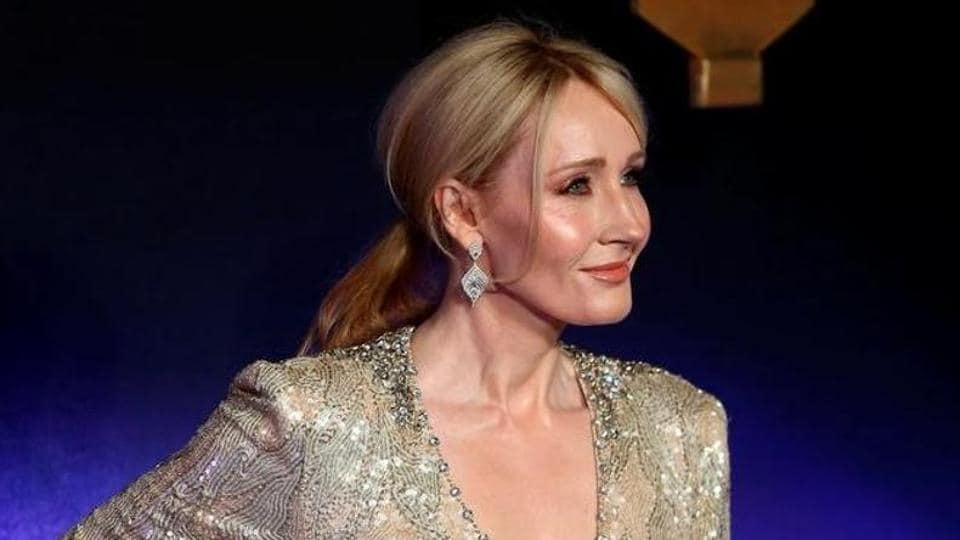 Writer JK Rowling poses as she arrives for the European premiere of the film Fantastic Beasts and Where to Find Them at Cineworld Imax, Leicester Square in London.