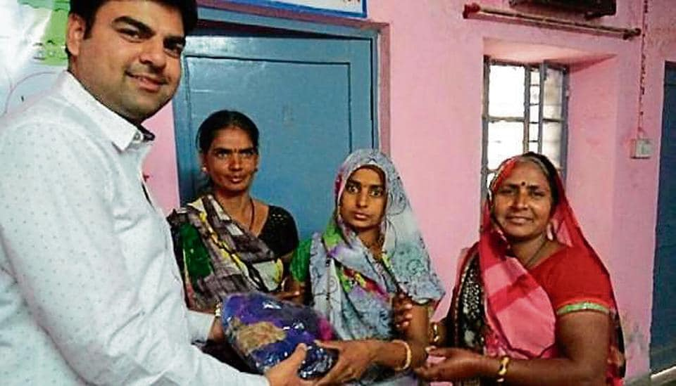 The scheme for giving sarees and android 4G smartphones was launched in March to push sterilisations to meet the target.