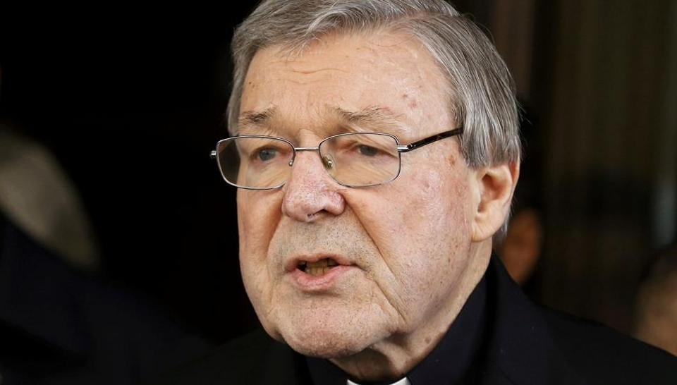 FILE PHOTO: Vatican finance chief Cardinal George Pell arrived back in Australia on Monday ahead of a court appearance later this month over historical sex abuse charges.