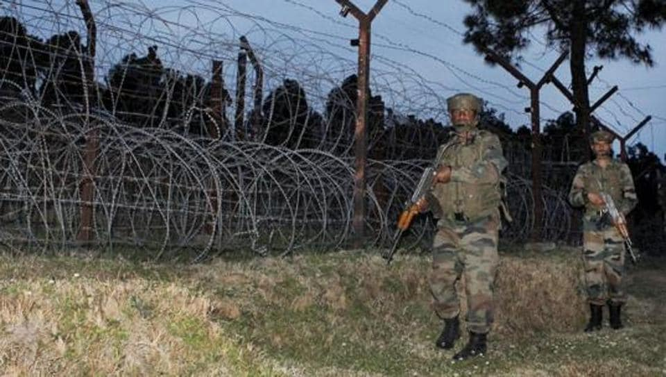 Indian Army jawans patrol along the Line of Control in Poonch district of Jammu and Kashmir.