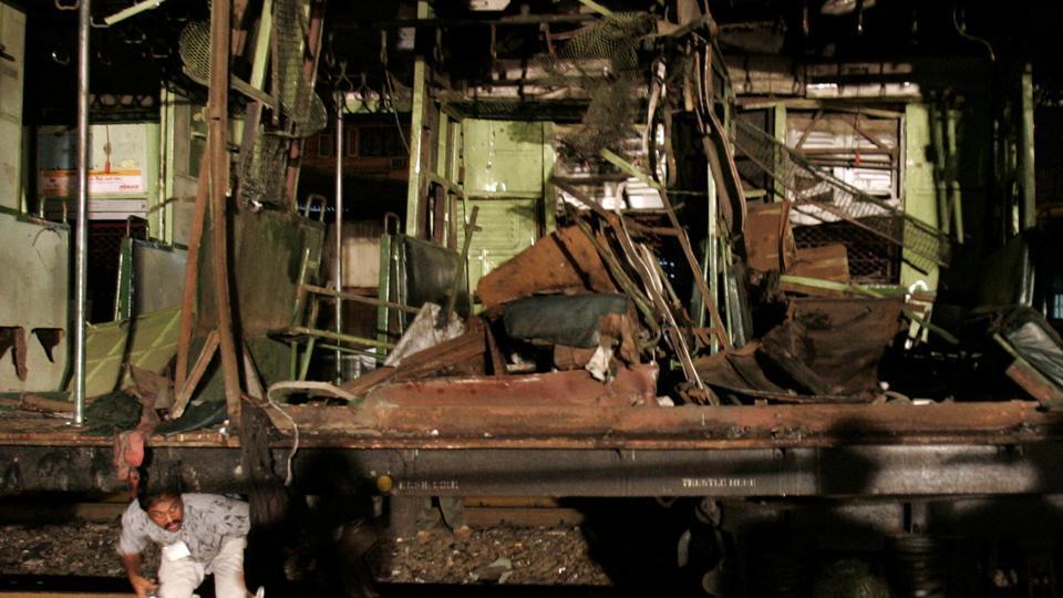 The wreckage of a train at Matuga.