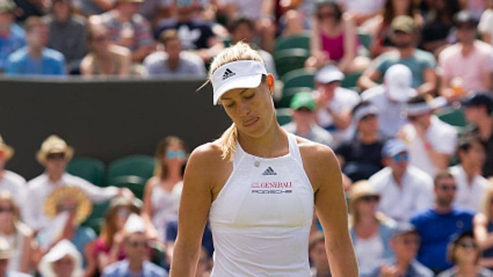 Angelique Kerber's fourth round exit extended a miserable run for last year's Wimbledon runner-up, who has failed to make the last eight at any of this year's three majors.