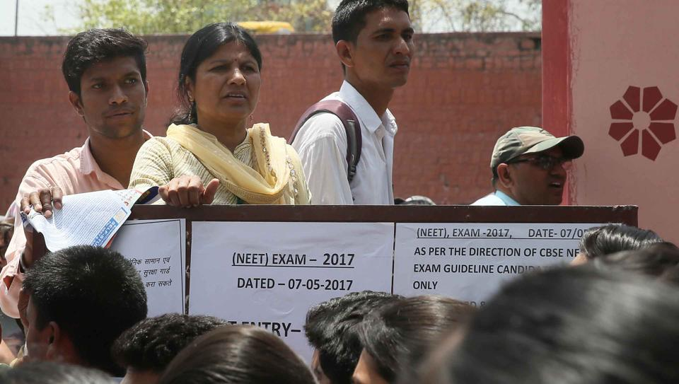 Politial parties in Tamil Nadu has alleged bias against students from south India in NEET - the entrance test to medical and dental colleges.