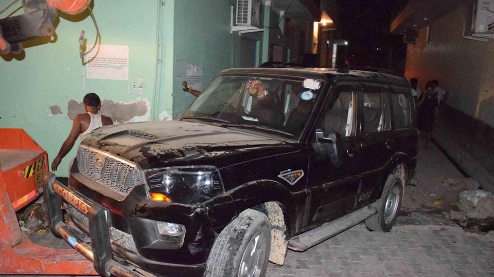 Police have seized the Scorpio that rammed Basant Tyagi's Verna.