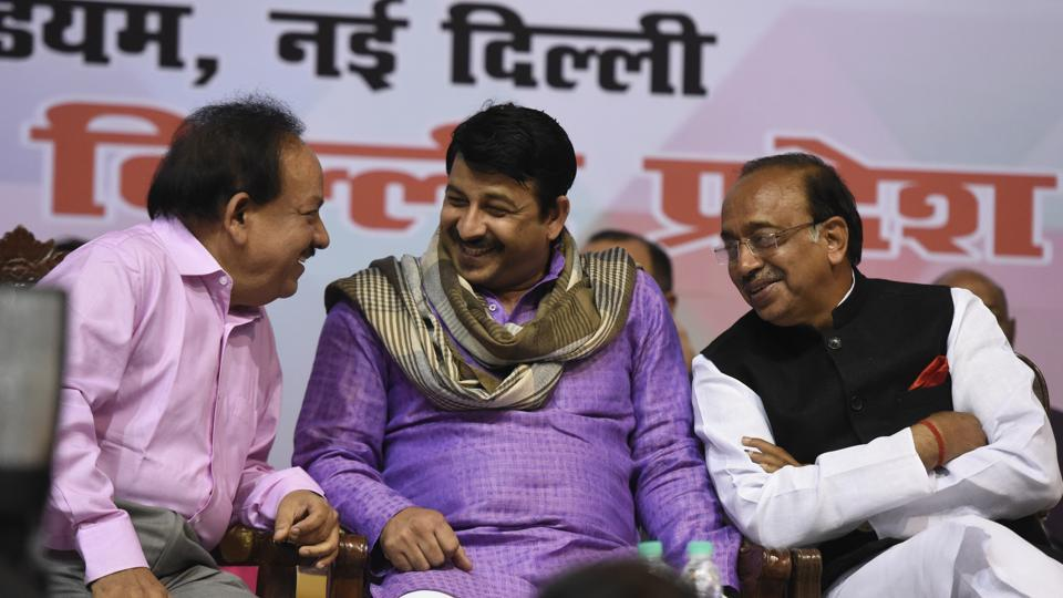 Delhi BJP president Manoj Tiwari consulted the party leadership on setting up of various new cells and departments. Former MLAs, councillors and senior local leaders will be tasked with running these new units.