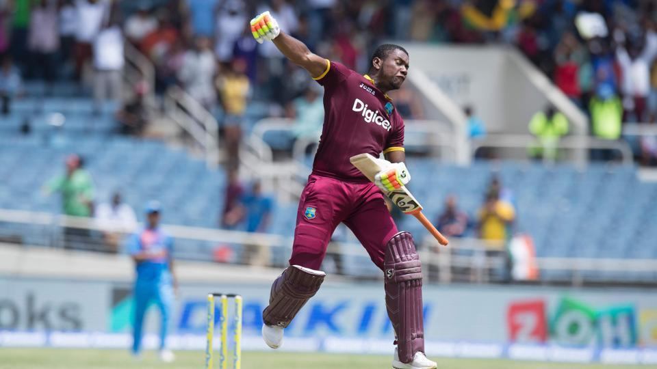 Lewis blasted 125* off 62 balls and his knock included six fours and 12 sixes as West Indies thrashed India by nine wickets to win the T20I encounter. (AFP)