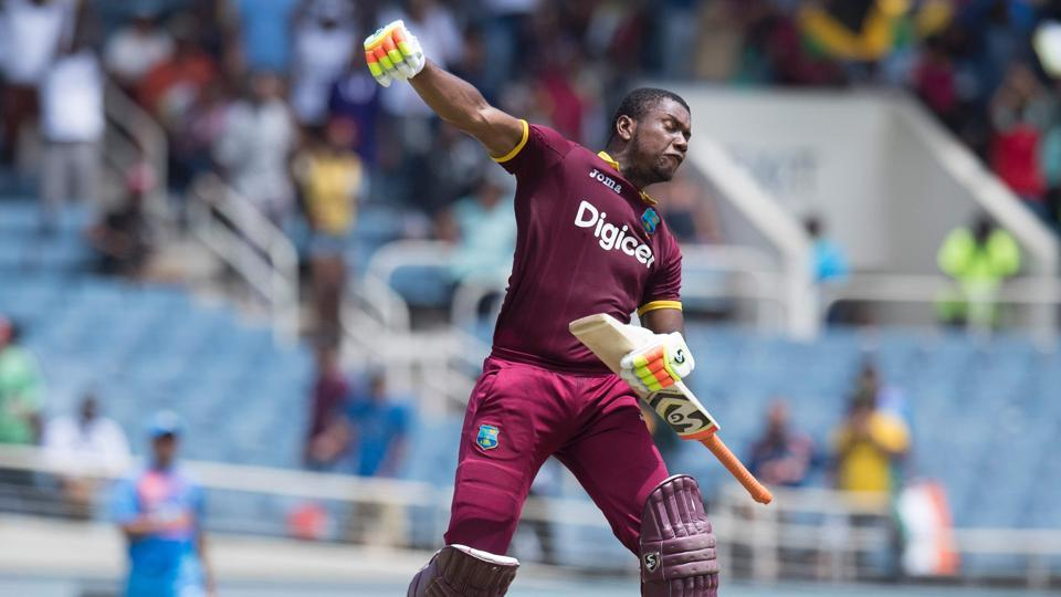Evin Lewis blasted 125* off 62 balls as West Indies thrashed India by nine wickets to clinch the one-off Twenty20 International in Jamaica. (AFP)