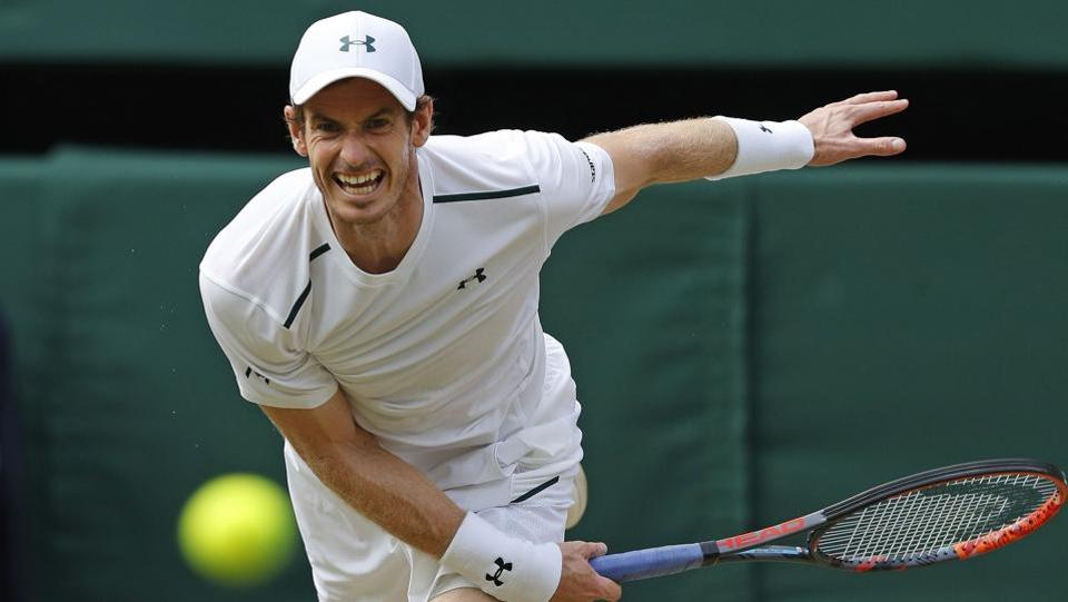 Britain's Andy Murray beat unseeded Benoît Paire 7-6(1), 6-4, 6-4.  (AFP)