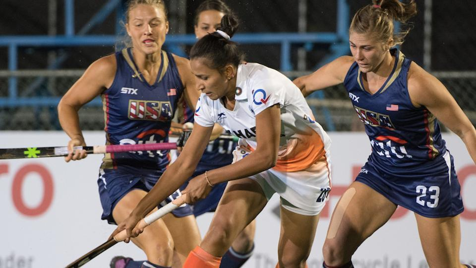 Lilima Minz scored a goal for India but it was not enough as the women's team was thrashed 1-4 by USAin the Hockey World League Semi Final.