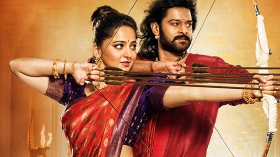 Actors Anushka Shetty and Prabhas in a still from Baahubali.