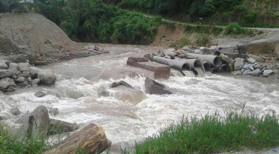 Heavy rains triggered a landslide at Laptap village in Arunachal Pradesh's Papum Pare district.