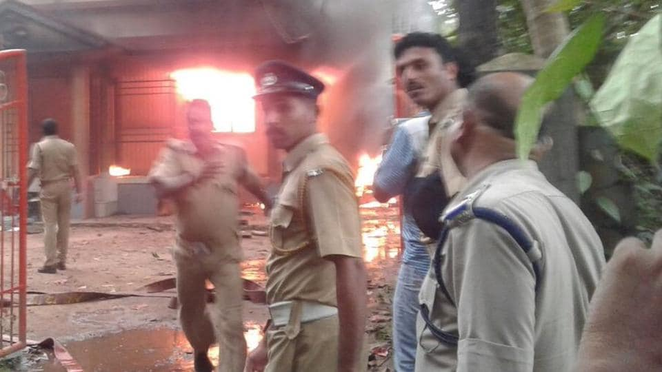 A RSS office was allegedly attacked by CPI(M) workers in Kerala.
