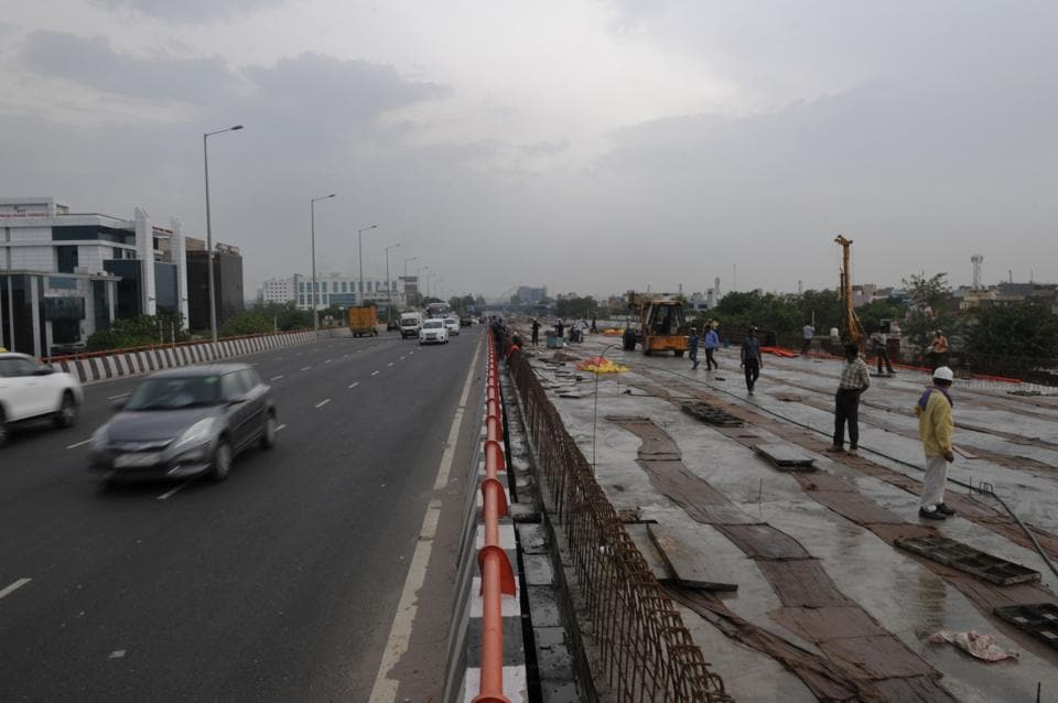 NHAI officials said the remaining carriageway of the Hero Honda Chowk flyover will not be completed this month.