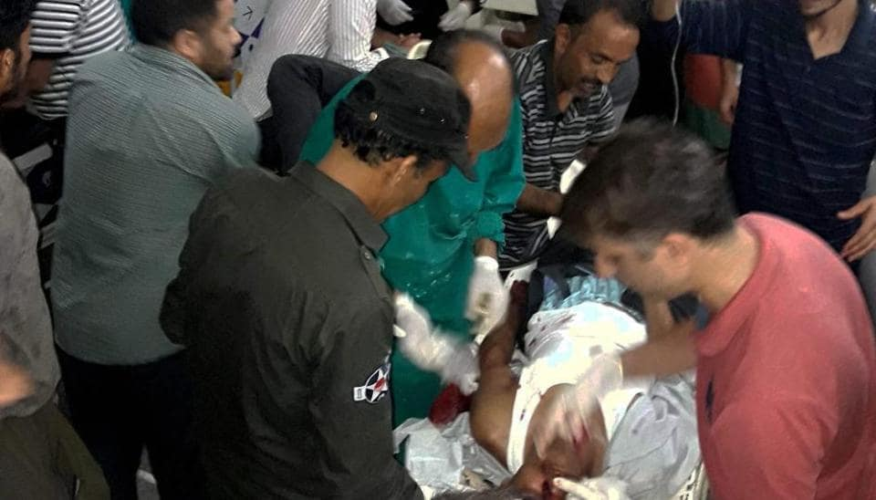 One of the passengers injured in the terror attack on  a pilgrims' Monday in Anantnag in Jammu and Kashmir.
