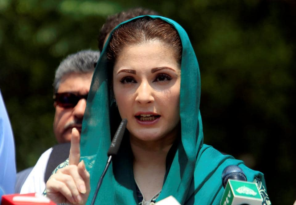 Maryam Nawaz speaks to media after appearing before the Joint Investigation Team in Islamabad on July 5, 2017.